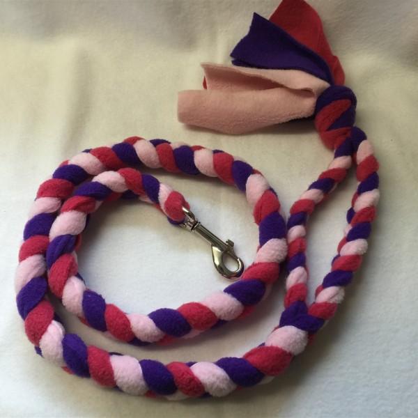 fleece standard width, long length tuggy agility dog lead
