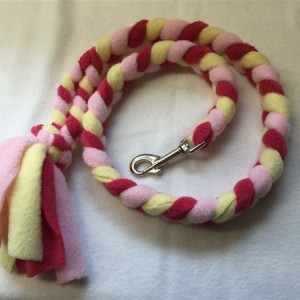 standard plaited fleece dog lead