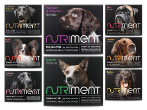 nutriment raw frozen dog food all different flavour varieties shown